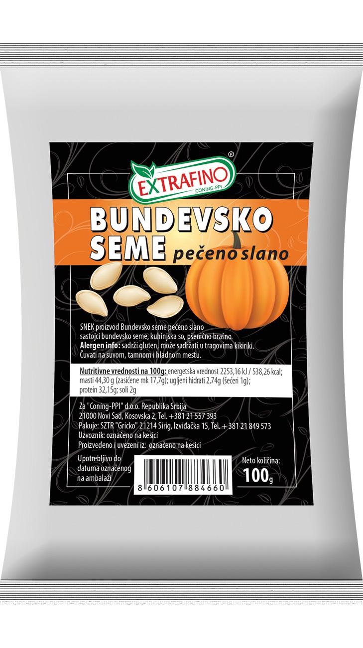 Bundevsko seme pečeno slano